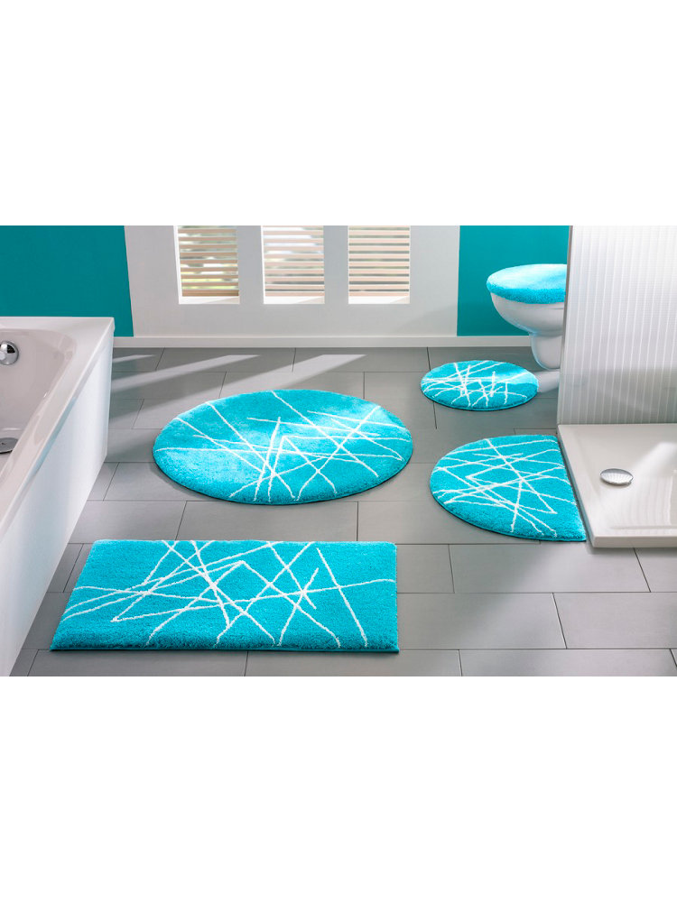 tapis salle de bain rond coussin de chaise rond bleu marine achat vente. Black Bedroom Furniture Sets. Home Design Ideas
