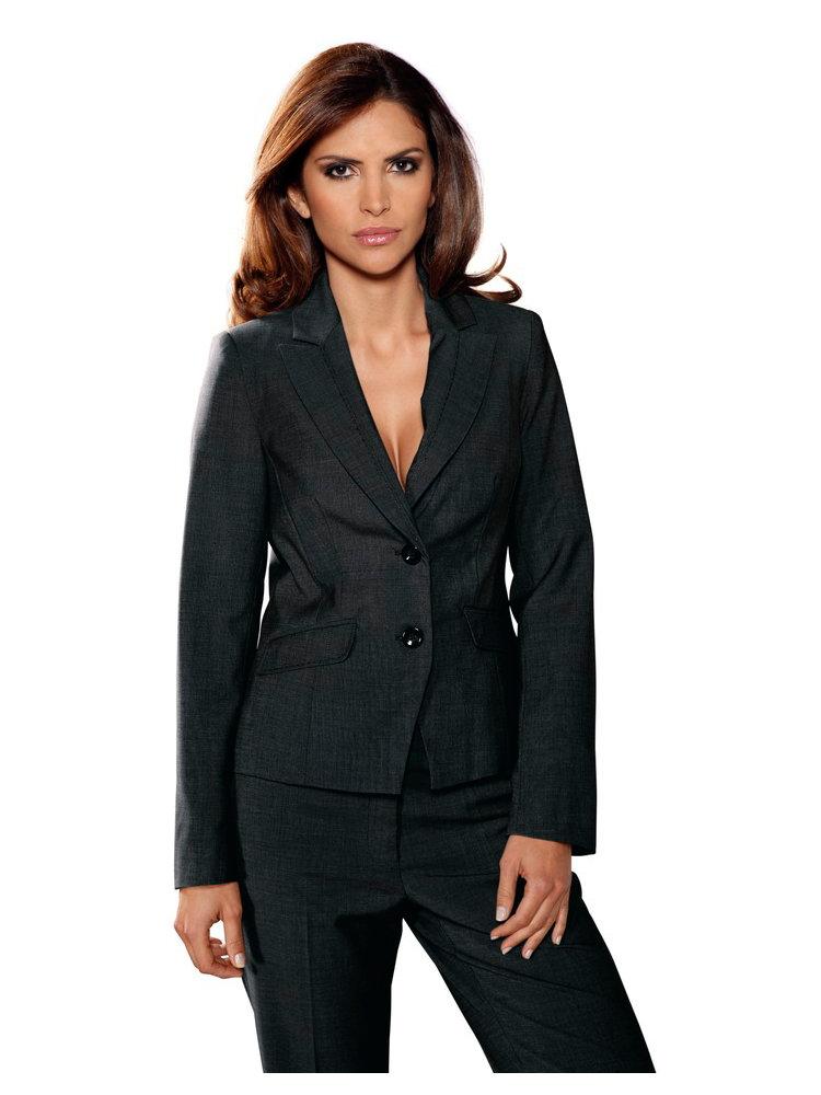 veste de tailleur femme style basique 2 boutons helline. Black Bedroom Furniture Sets. Home Design Ideas