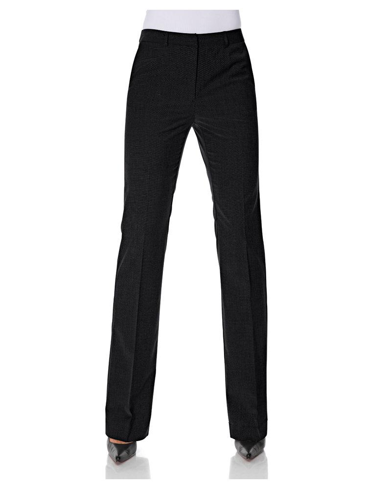 Pantalon tailleur femme taille haute, coupe droite