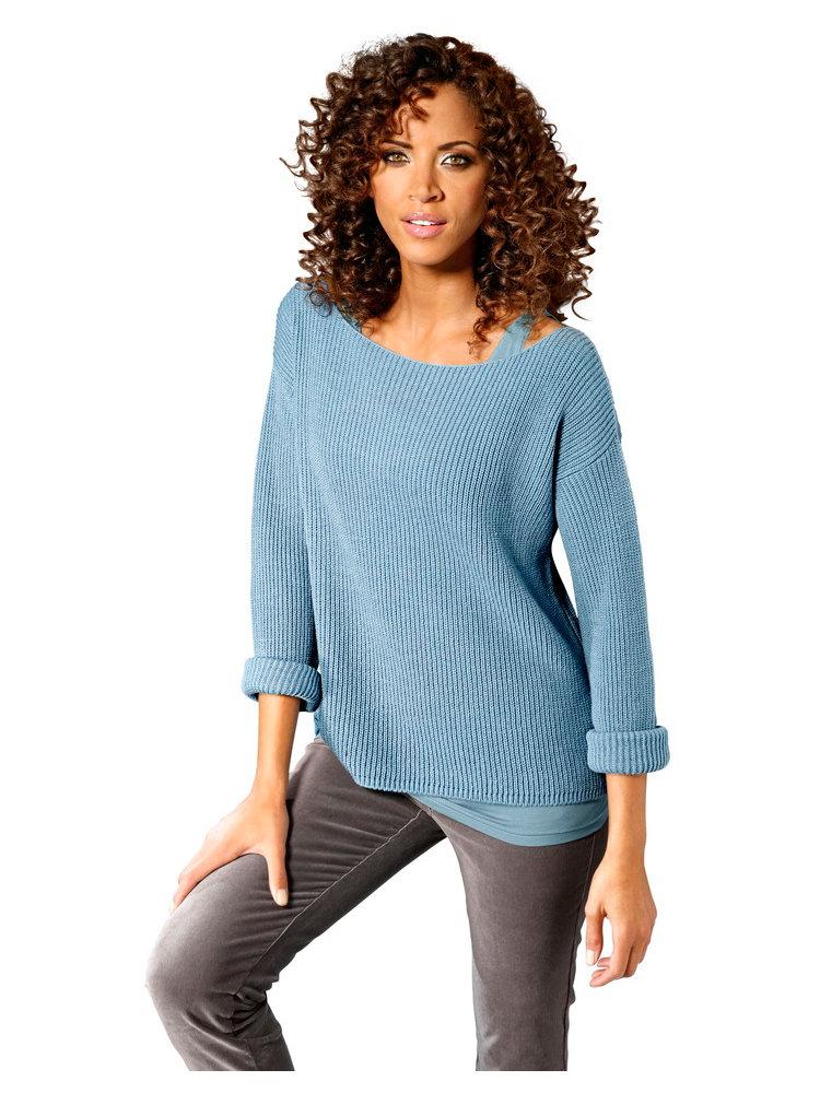 Пуловер Вырез Лодочка
