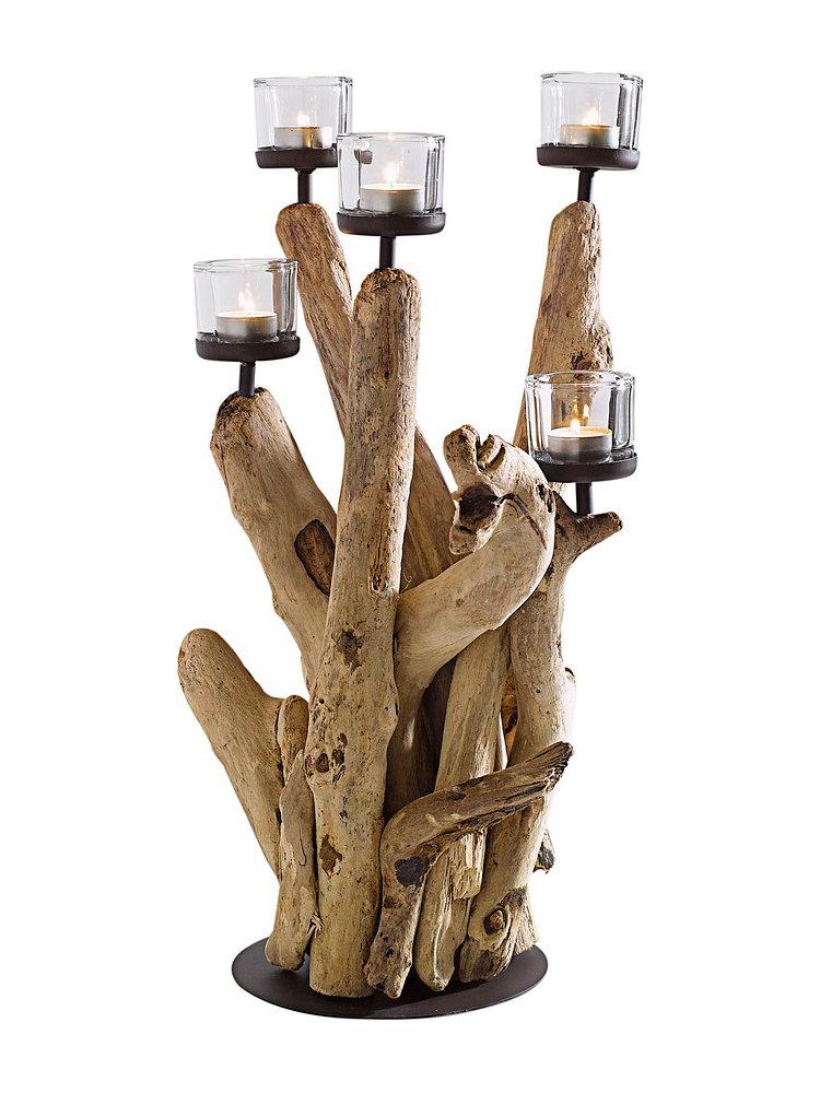 Bougeoir en bois flottant helline for Bougeoire en bois flotte