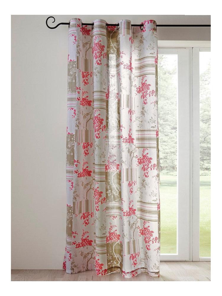 rideau d co motif patchwork. Black Bedroom Furniture Sets. Home Design Ideas