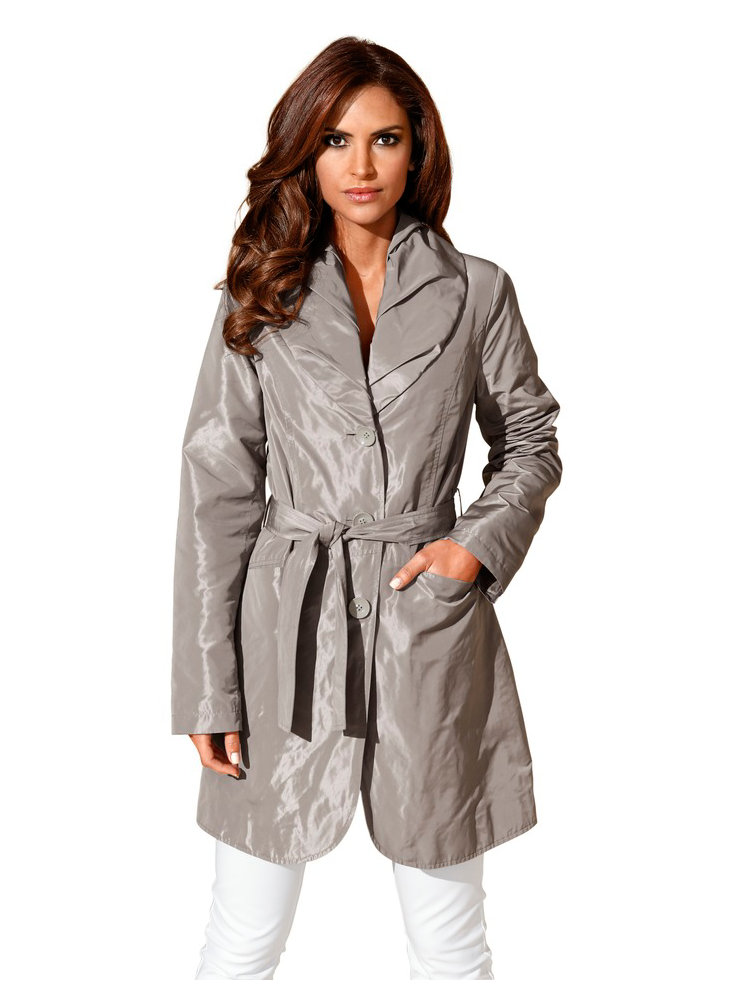 manteau femme type trench coat grand col. Black Bedroom Furniture Sets. Home Design Ideas