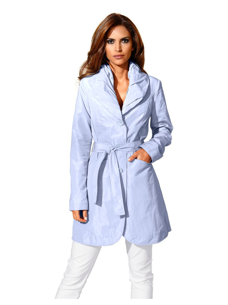 Manteau Femme Type Trench Coat Grand Col Helline