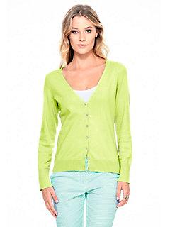 Gilet femme en tricot fin à boutons, style basique