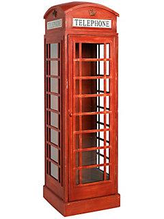 Armoires et armoires penderie en bois helline for Meuble cabine telephonique anglaise