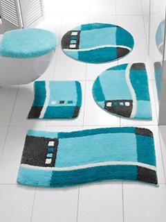 tapis de bain original antid rapant motif g om trique. Black Bedroom Furniture Sets. Home Design Ideas