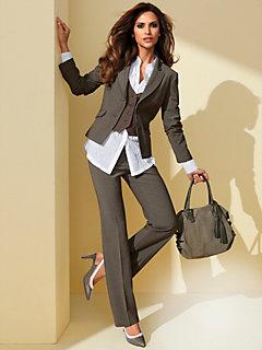a65baed8def0 Ensemble pantalon veste en lin pour femme – Vestes élégantes populaires