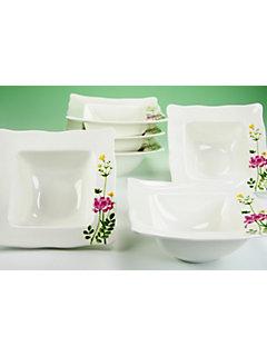 Coupelles à céréales porcelaine, »Eva fleurs des champs« (6 pièces)