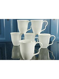 Mugs à café en porcelaine, »EVA« (6 pièces)