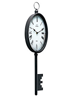 Pendules et horloges murales originales helline for Horloge en fer forge noir