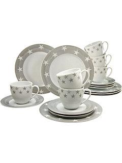 Service à café, CreaTable en porcelaine, 18 pièces, »étoiles«