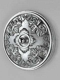 Plafonnier décoratif à moulures élégantes, forme ronde