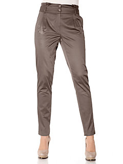 Pantalon chino à pinces, à 2 boutons