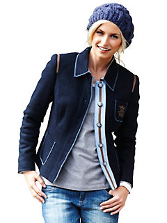 Blouson femme en laine style écolier très tendance
