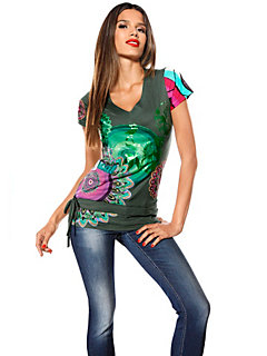 T-shirt, encolure en V