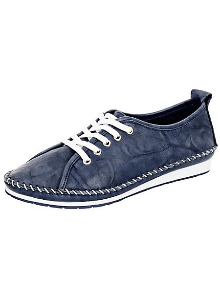 Andrea Conti - Chaussures femme à lacets et surpiqures style mocassin