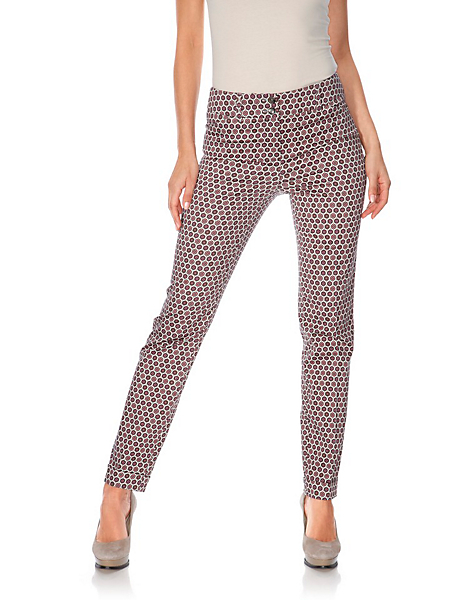 Ashley Brooke - Pantalon femme à coupe droite, imprimé chic et original