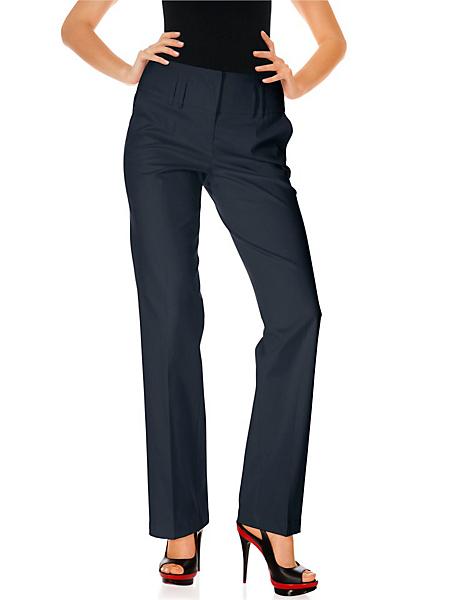 Ashley Brooke - Pantalon femme coupe droite, ceinture large, plis