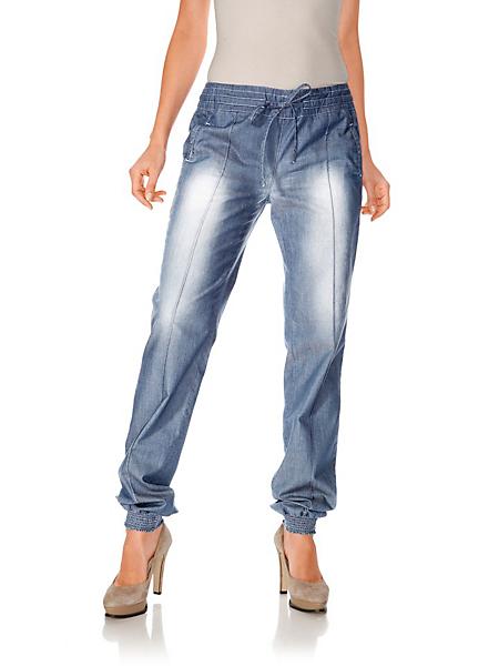 helline - Pantalon souple en coton, taille élastiquée confortable