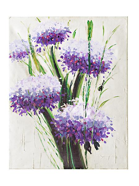 helline home - Tableau 'Purple Flowers'