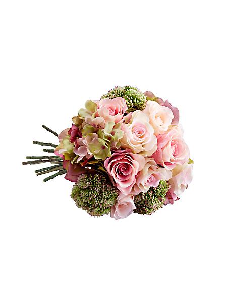 helline home - Couronne/bouquet de roses synthétiques, aspect réel