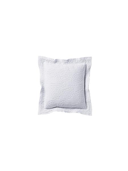 helline home - Housse de coussin unie en coton avec motifs raffinés