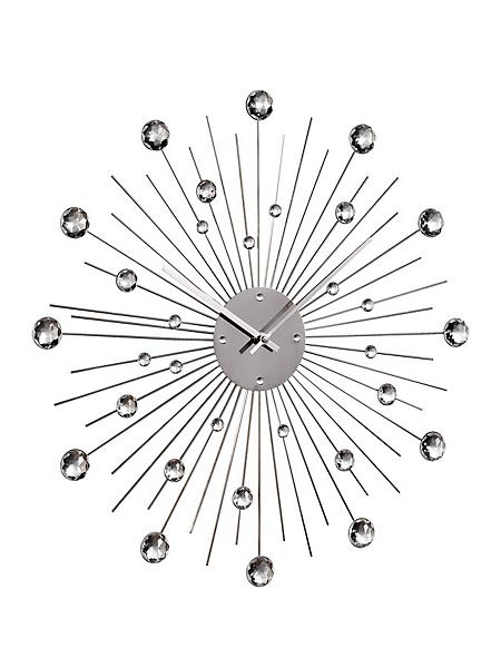 helline home - Horloge murale sans cadran avec pierres décoratives