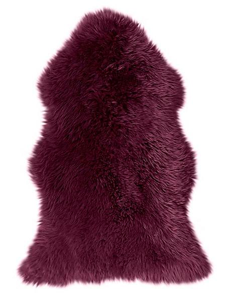 helline home - Tapis moelleux en véritable peau de mouton colorée