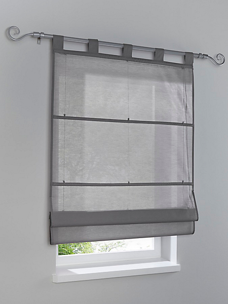 helline home - Store opaque à suspendre en tissu uni