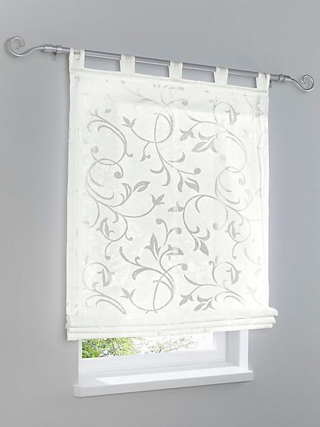 Home Wohnideen * - Store bateau en tissu voile blanc, motif floral blanc