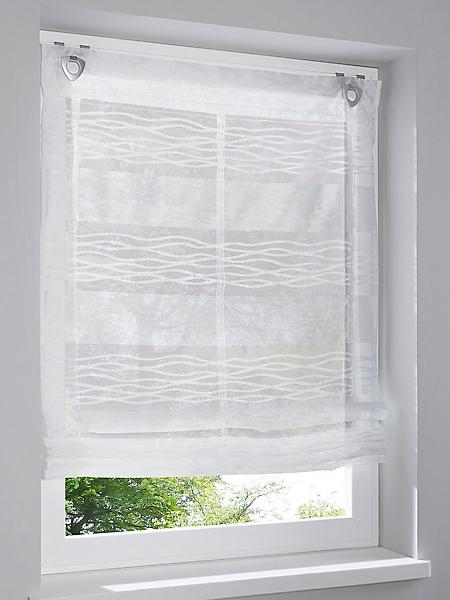 helline home - Store motif à rayures, semi-transparent, montage facile