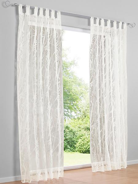 helline home - Rideau voile transparent avec motif branches