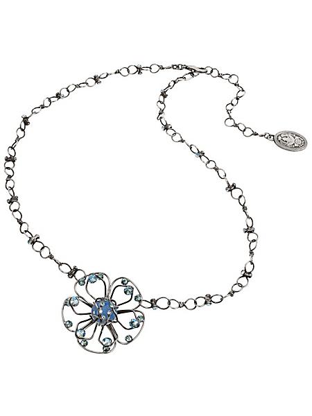 Konplott - Collier avec pendentif en fleur, cristaux Swarovski