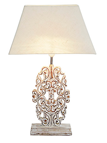 helline home - Lampe de chevet classique à pampilles