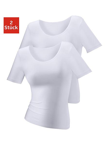 Lascana - T-Shirt près du corps uni, très élastique
