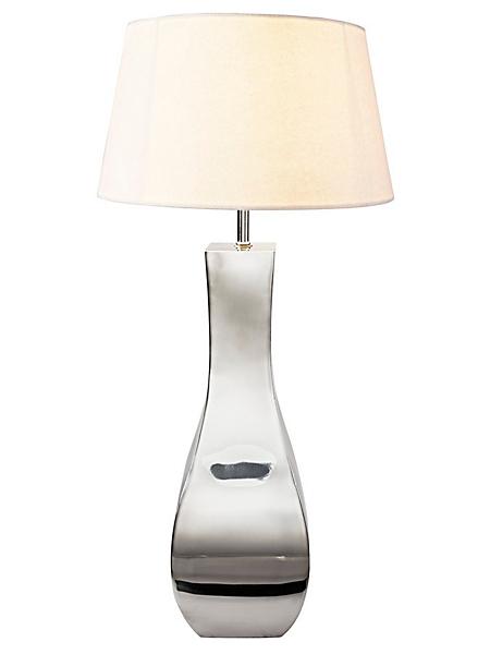 helline home - Lampe à poser design en métal chromé