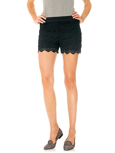 Linea Tesini - Short femme en dentelle, doublure et taille élastique