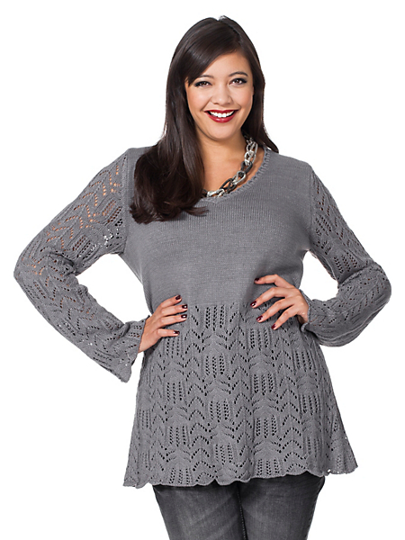 Sheego Style - Pull-over ajouré sheego Style