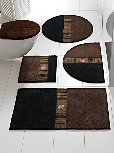 Grund - Tapis de bain élégant, motifs rectangulaires