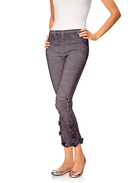 Linea Tesini - Legging femme à taille élastiquée, base effet froissé