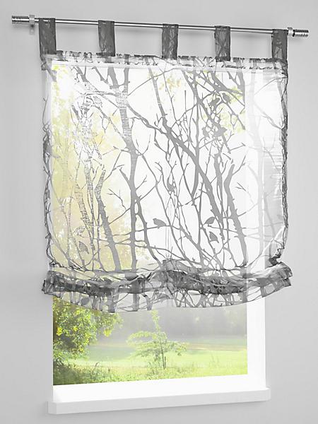 helline home - Store transparent, motif dévoré branches moderne