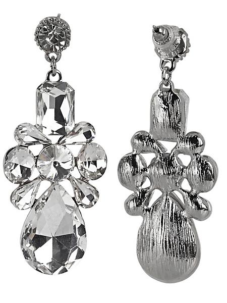 helline - Boucles d'oreilles pendantes chics en pierres de verre