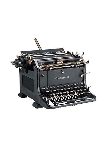 helline home - Machine à écrire ancienne en métal noir