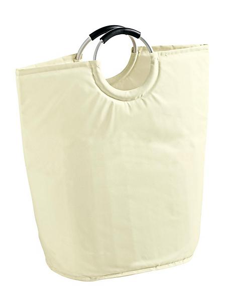 helline home - Sac à linge sale design avec anses en aluminium