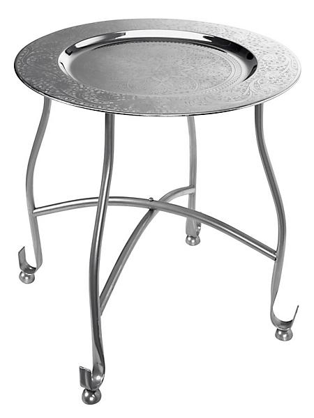 helline home - Table d'appoint desserte en métal style oriental