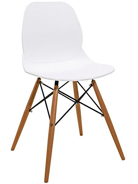 helline - Chaise à coque d'assise ergonomique, design moderne