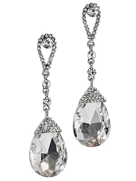 helline - Boucles d'oreilles pendantes chics, pierres fantaisie