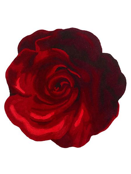 helline home - Tapis original en laine en forme de rose
