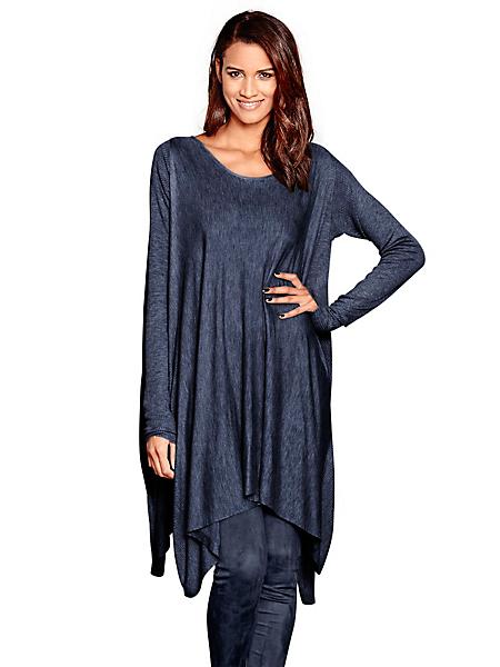 B.C. Best Connections - Pull long en tricot fin ample, côtés ouverts